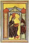 Hildegard von Bingen - Miniatur aus dem Rupertsberger Codex des Liber Scivias