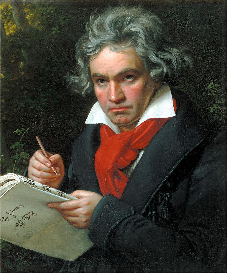 Ludwig van Beethoven (Gemälde von Karl Joseph Stieler, 1819)