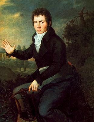Ludwig van Beethoven - 1805 Portrait von Joseph Willibrord Mähler.