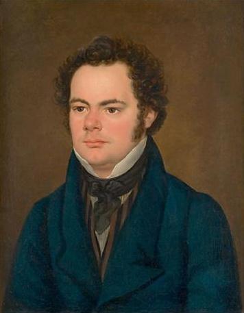 Franz Schubert ca. 1827 - Bild wird Anton Depauly zugesprochen, wurde früher Joseph Mähler zugeordnet [Public domain]