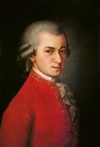 Wolfgang Amadeus Mozart - Detail aus einem Gemälde von Johann Nepomuk della Croce (ca. 1780). Lizenziert unter Public Domain