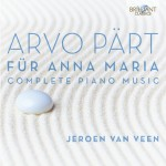 "Norman Lebrecht kürt Jeroen van Veens ""Arvo Pärt: Complete Piano Music"" bei Sinfini Music zum 'Album of the Week'"