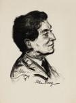 Alban Berg (porträtiert von Emil Stumpp, 1927)
