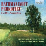 Alexander Russakovsky & Amber Shay Nicholson – Sergei Rachmaninoff · Sergei Prokofiev: Cello Sonatas