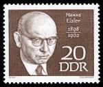 Briefmarke der Deutschen Post der DDR (1968) aus der Serie Berühmte Persönlichkeiten
