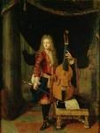 Portrait von Johann Schenck des Malers Constantijn Netscher [Public domain]