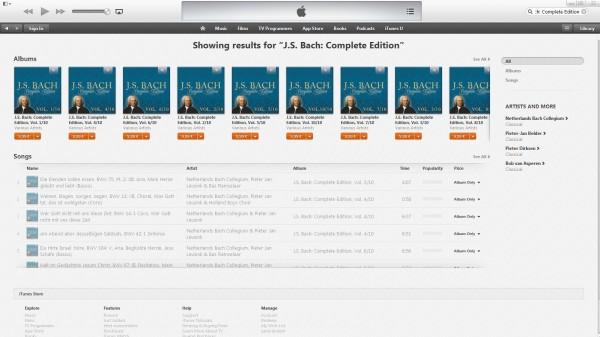 Complete Bach Edition bei iTunes (vor)bestellen