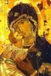 Gottesmutter von Wladimir, ein Nationalheiligtum Russlands und der russisch-orthodoxen Kirche. (Konstantinopel, um 1100)