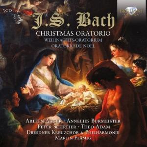 Johann Sebastian Bach: Christmas Oratorio (Weihnachtsoratorium) BWV 248 Arleen Augér · Annelies Burmeister · Peter Schreier · Theo Adam Dresdner Kreuzchor & Philharmonie, Martin Flämig