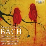 Marco Ruggeri & Lina Uinskyte – Johann Christian Bach: Sonatas for Harpsichord and Violin