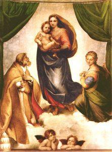 Die Sixtinische Madonna von Raffael aus dem Jahr 1512/1513